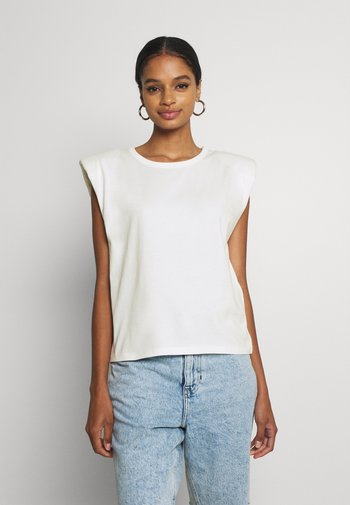 FRAN TANK - Camiseta estampada - white