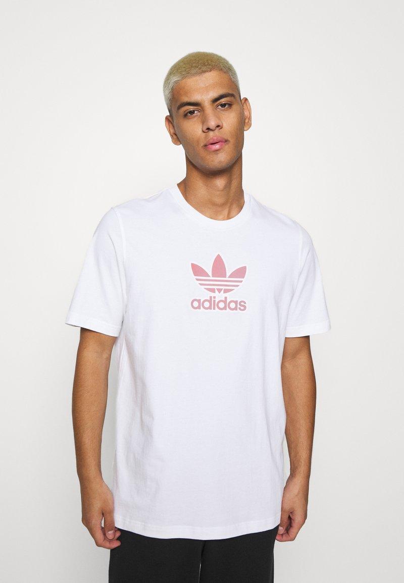 adidas Originals - TREF SERIES TEE UNISEX - T-shirt imprimé - white