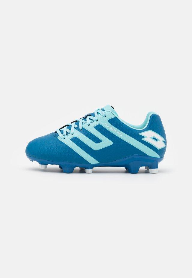 MAESTRO 700 IV FG JR UNISEX - Fodboldstøvler m/ faste knobber - mykonos blue/blue paradise/all white