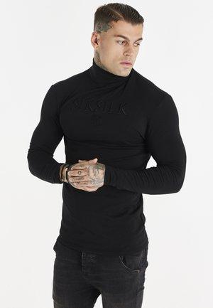 TURTLE NECK GYM TEE - Long sleeved top - black