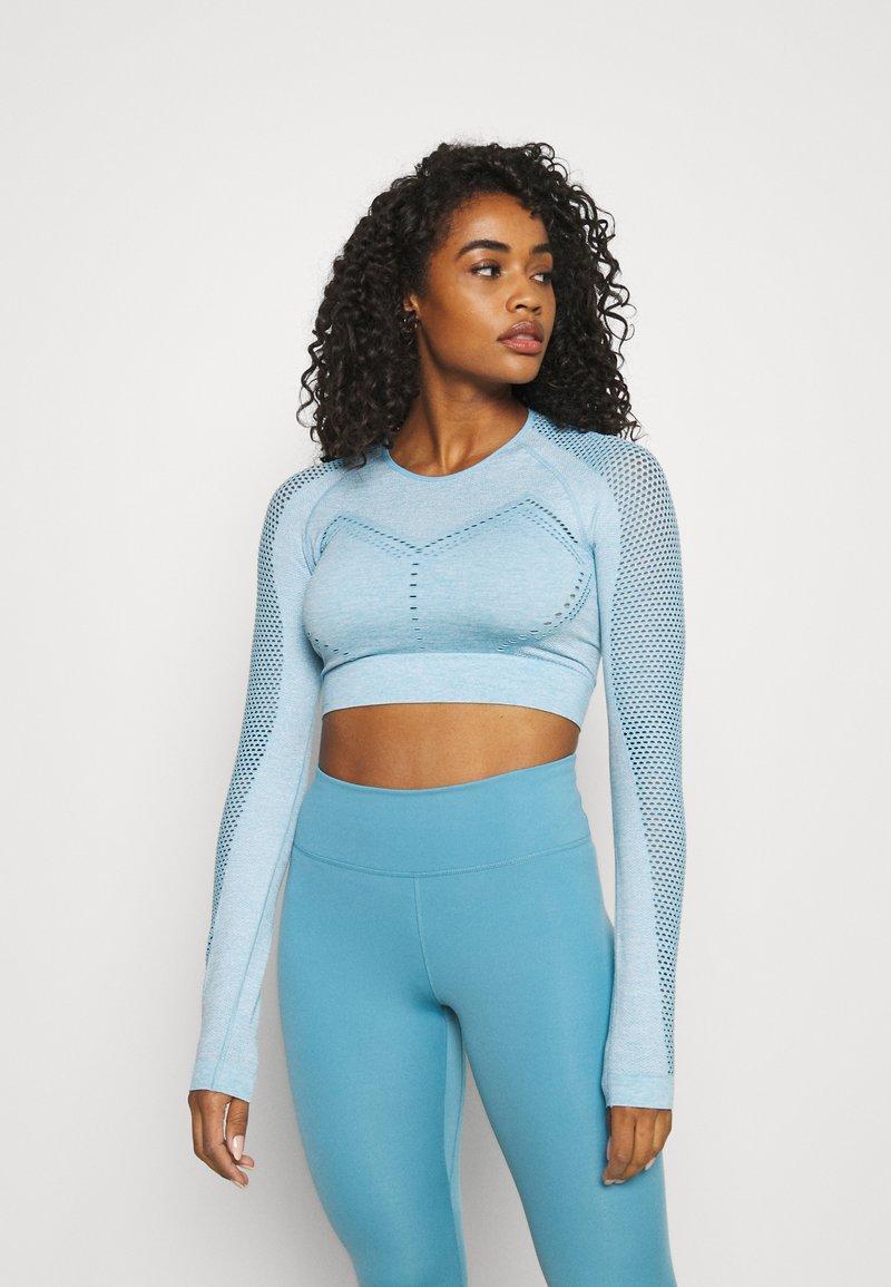 Calvin Klein Performance - LONG SLEEVE SEAMLESS  - T-shirt à manches longues - blue