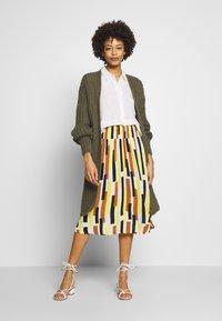 Masai - SONDRA - Áčková sukně - cream gold - 1