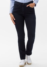 BRAX - STYLE LAURA SLASH - Slim fit jeans - dark blue mit effekt - 0