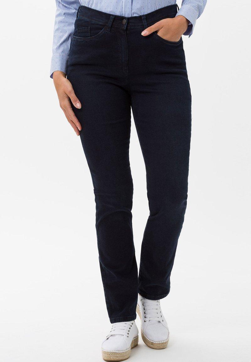 BRAX - STYLE LAURA SLASH - Slim fit jeans - dark blue mit effekt