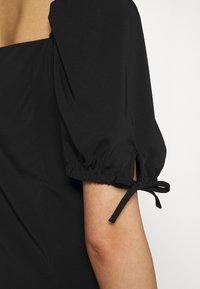 Fashion Union - BIATRRITZ MIDI DRESS - Day dress - black - 5