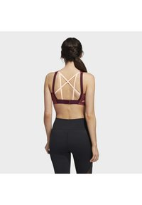 adidas Performance - STRONGER FOR IT ALPHA BRA - High support sports bra - red - 1