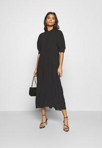 Never Fully Dressed - PANEL MAXI DRESS - Denní šaty - black - 1