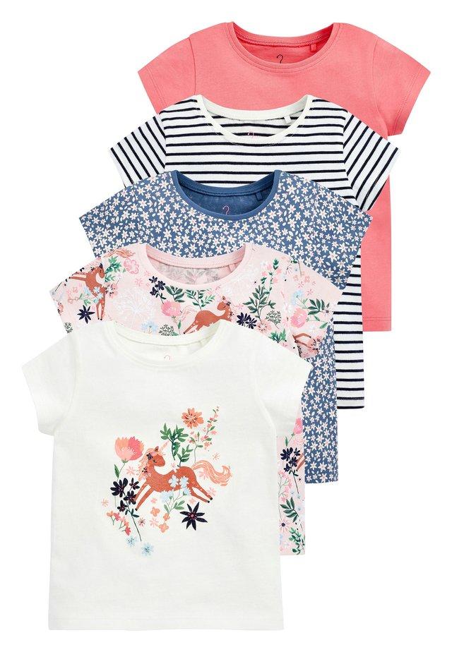 5 PACK - T-shirt imprimé - mottled pink