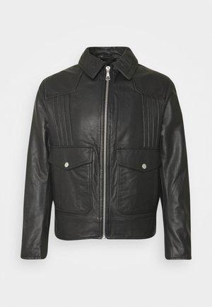 NOSKUT - Kožená bunda - black