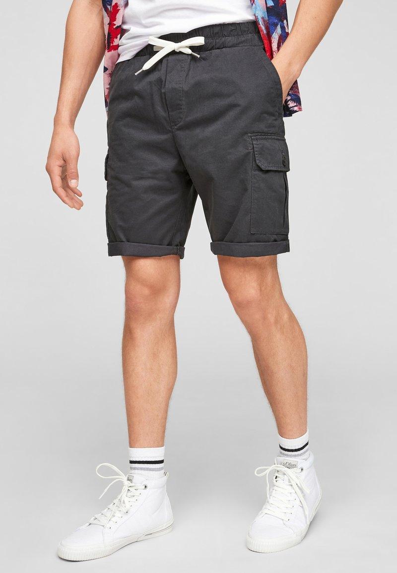Q/S designed by - REGULAR FIT - Shorts - dark grey