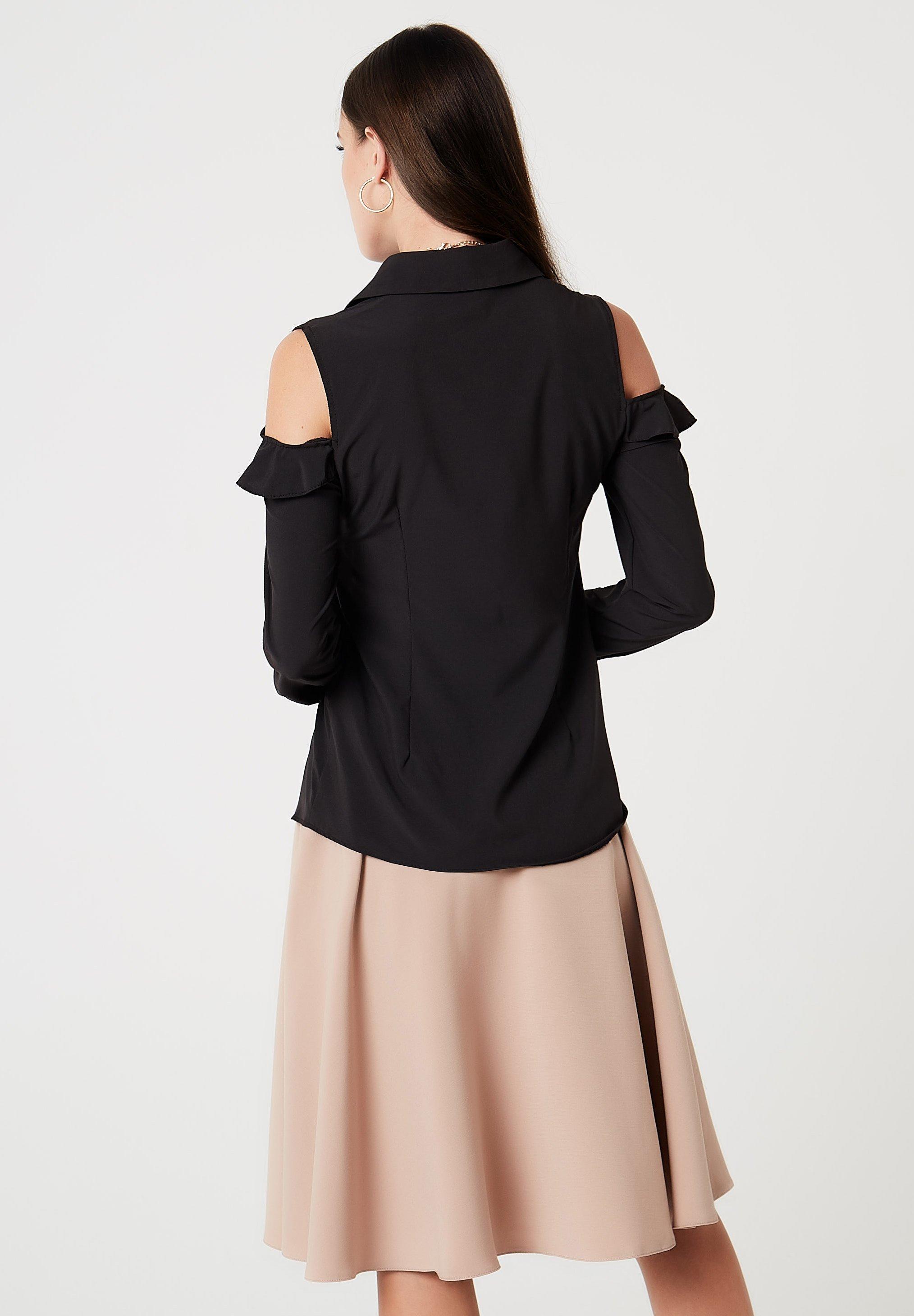 Buy Women's Clothing faina Button-down blouse schwarz zlwHnjbXq