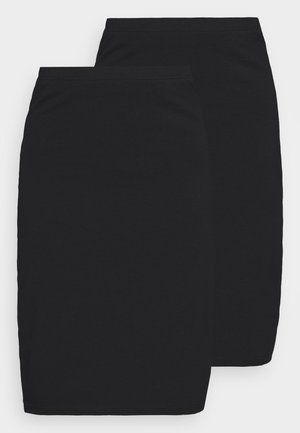 2 PACK - Pencil skirt - black