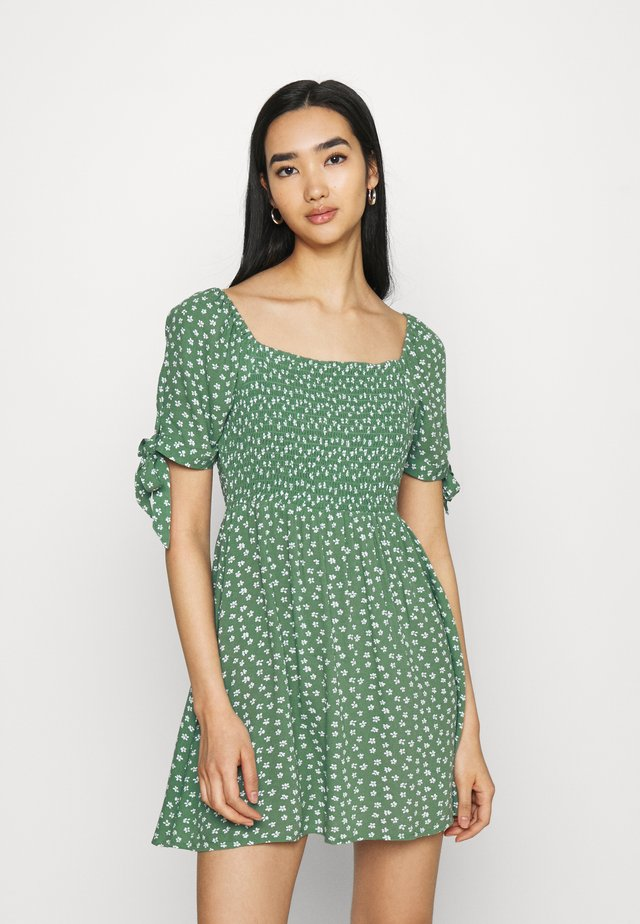 TIE DRESS - Korte jurk - green