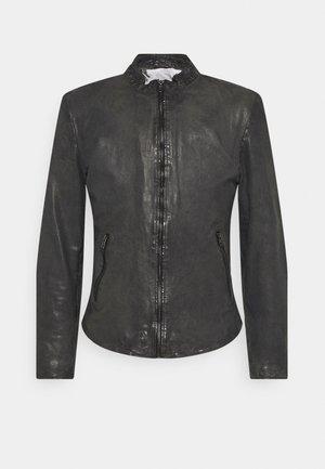 MOE - Leather jacket - anthra