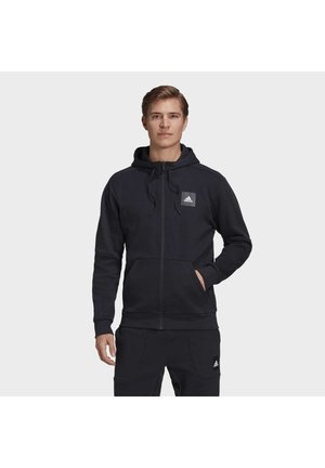 MUST HAVES FULL-ZIP STADIUM HOODIE - Felpa aperta - black