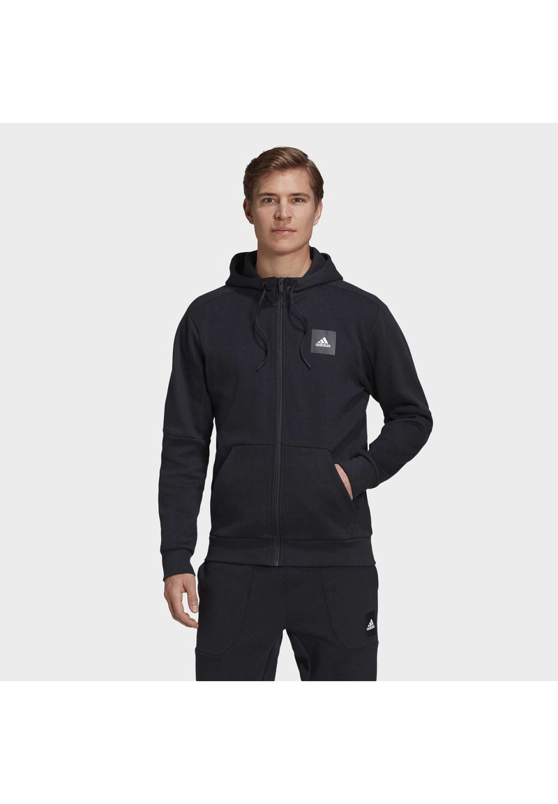 adidas Performance - MUST HAVES FULL-ZIP STADIUM HOODIE - Huvtröja med dragkedja - black