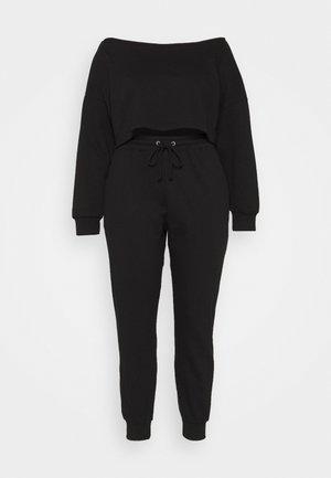 OFF SHOULDER JOGGER SET - Sweatshirt - black
