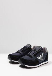 Emporio Armani - Trainers - black/blue - 2