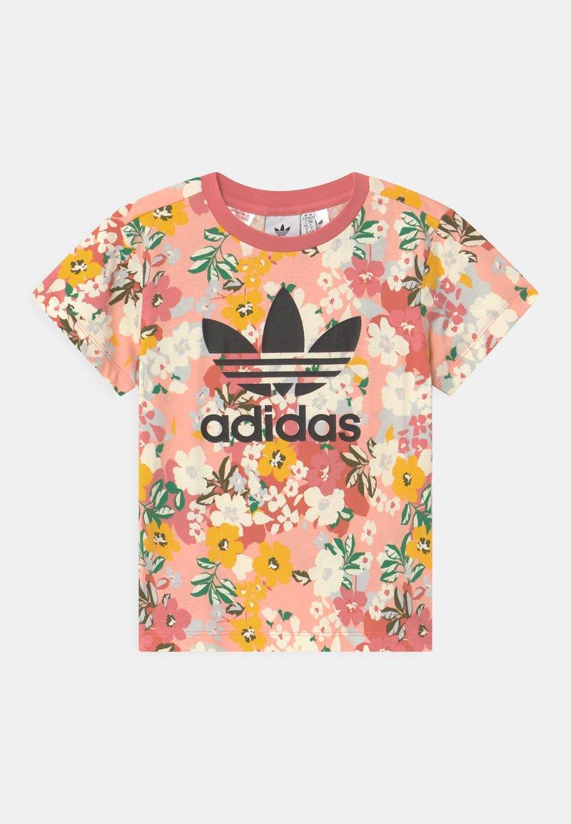 adidas Originals - FLORAL TREFOIL - Print T-shirt - trace pink/multicolor/black