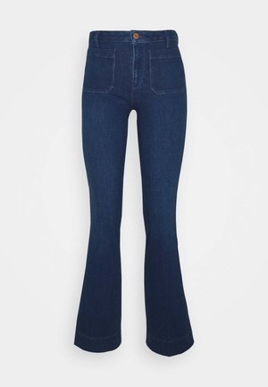 Flared Jeans - deep water