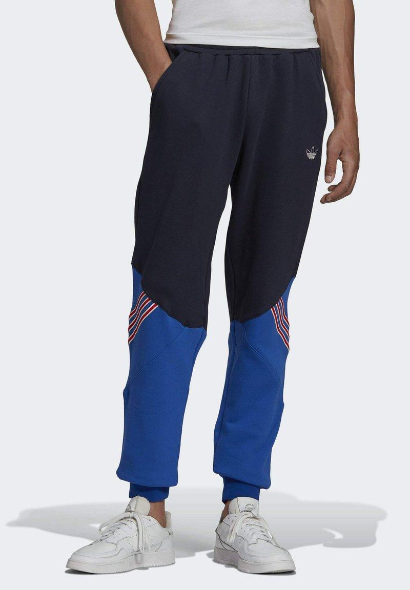 adidas Originals - SPRT ARCHIVE MIXED MATERIAL JOGGINGHOSE - Träningsbyxor - blue