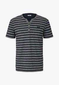 TOM TAILOR - Camiseta estampada - blue white stripe - 4
