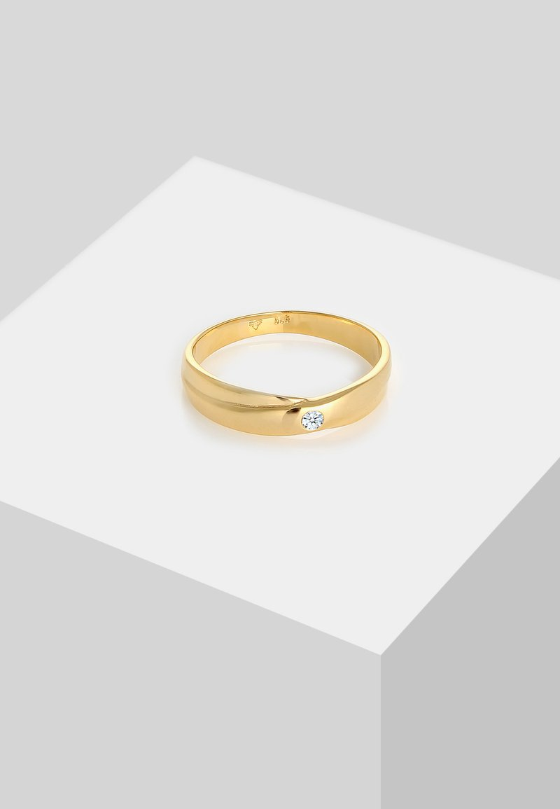 DIAMORE - WICKELRING SOLITÄR - Ring - gold-coloured