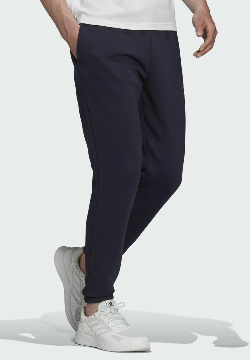 adidas Performance - LINEAR FLEECE PT SPORTS ESSENTIALS PANTS - Tracksuit bottoms - blue