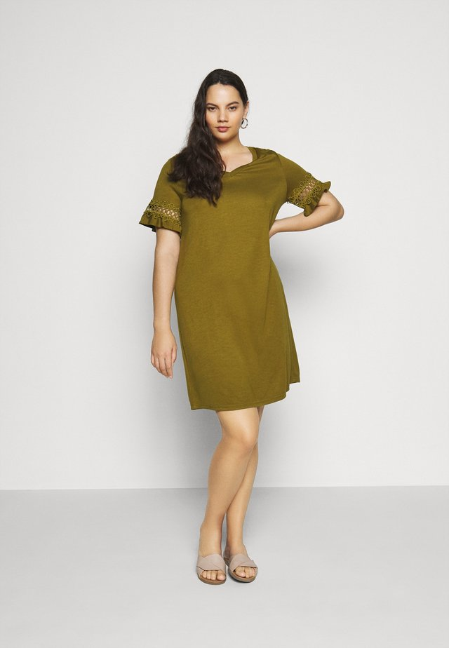 JRSALLY DRESS - Jerseyjurk - plantation