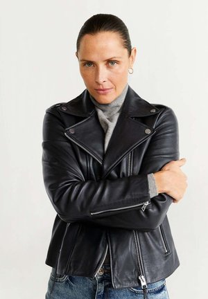 PERFECT - Leather jacket - black