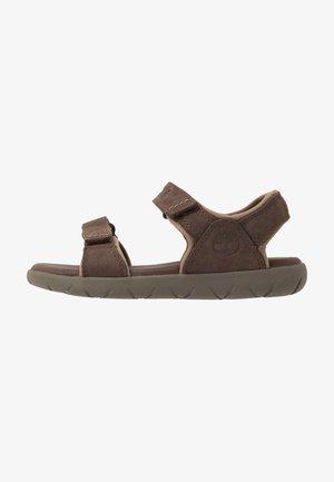 NUBBLE - Chodecké sandály - dark brown