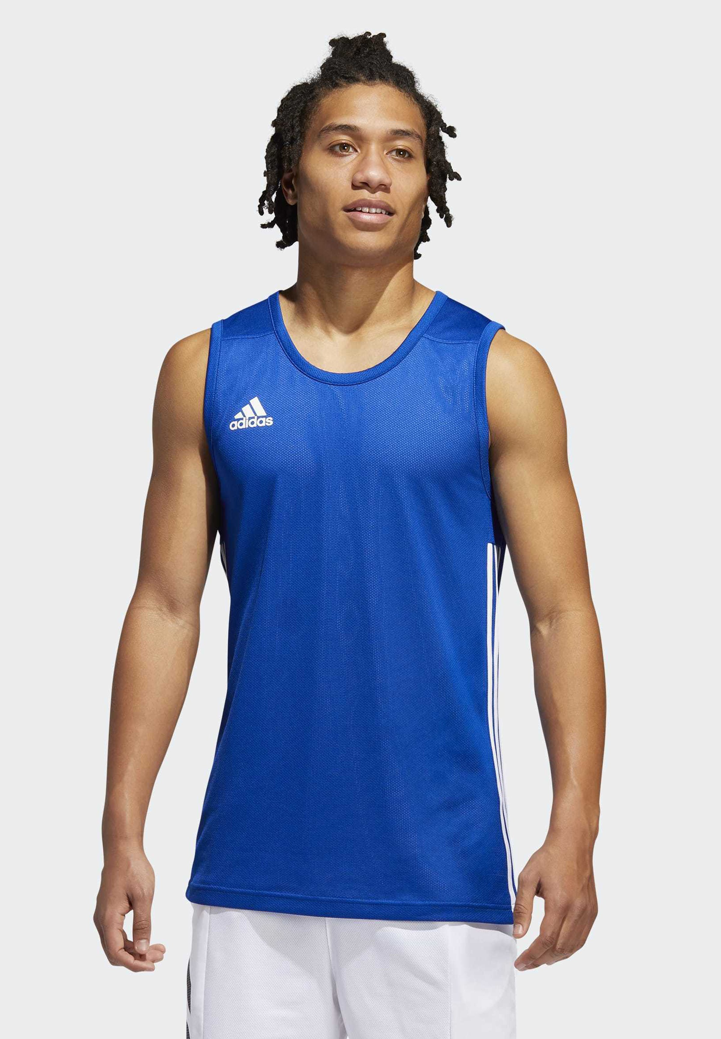 Uomo 3G SPEED REVERSIBLE BASKETBALL TEAM AEROREADY PRIMEGREEN SLEEVEL - T-shirt sportiva