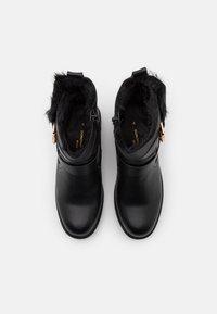 Dorothy Perkins Wide Fit - WIDE FIT ARUBABUCKLE BOOT - Cowboy/biker ankle boot - black - 5