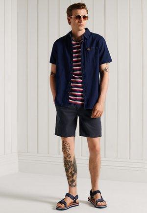 COLLEGIATE APPLIQUE - Print T-shirt - grey marl stripe