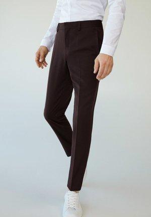 PAULO - Suit trousers - granatrot