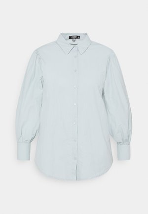 PUFF SLEEVE SHIRT - Button-down blouse - blue