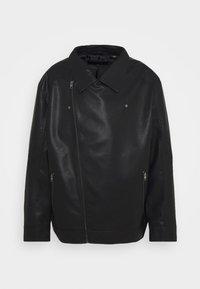 Jack & Jones - JORNOLAN BIKER JACKET - Faux leather jacket - black - 2