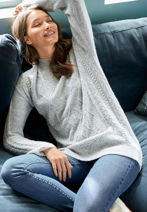 SPARKLE CABLE  - Sweter - grey