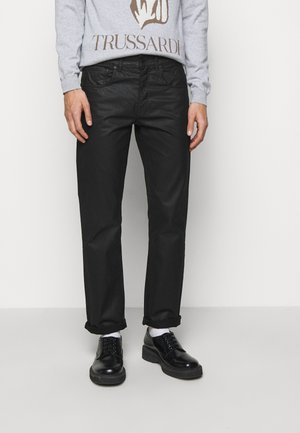 FIVE POCKET COATED - Straight leg jeans - black