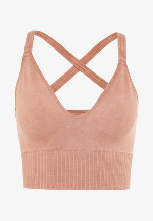 GOOD KARMA CROP - Top - sand