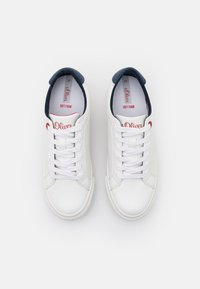 s.Oliver - LACE UP - Trainers - white - 5