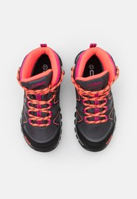 CMP - KIDS SHEDIR MID SHOE WP UNISEX - Hiking shoes - antracite/red fluo - 3