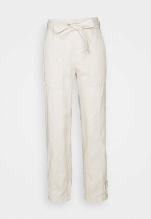 TIE EXCURSION  - Trousers - transition cream