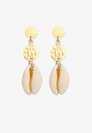 HÄNGER KAURI MUSCHEL MEER PLÄTTCHEN - Earrings - gold