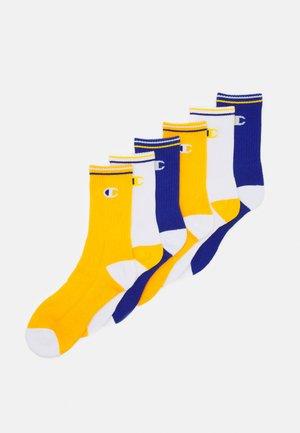 CREW SOCKS PERFORMANCE 6 PACK - Sports socks - mix blue/white/yellow