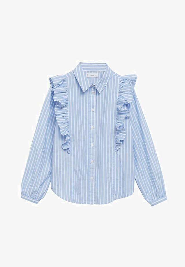 MET RUCHES - Overhemdblouse - blauw