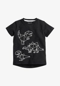 Next - DINO - Print T-shirt - black - 0