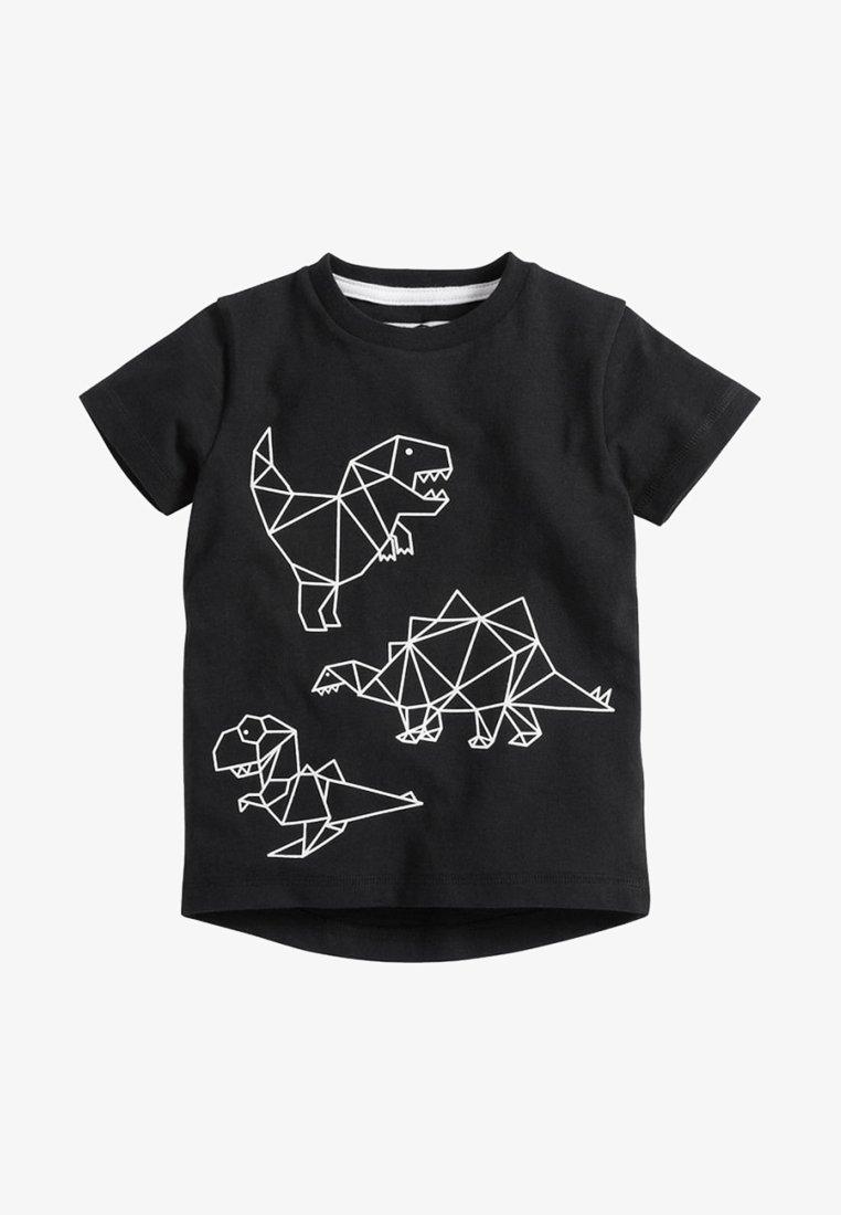 Next - DINO - Print T-shirt - black
