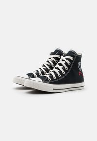 Converse - CHUCK TAYLOR ALL STAR UNISEX - High-top trainers - black/vintage white/egret - 1