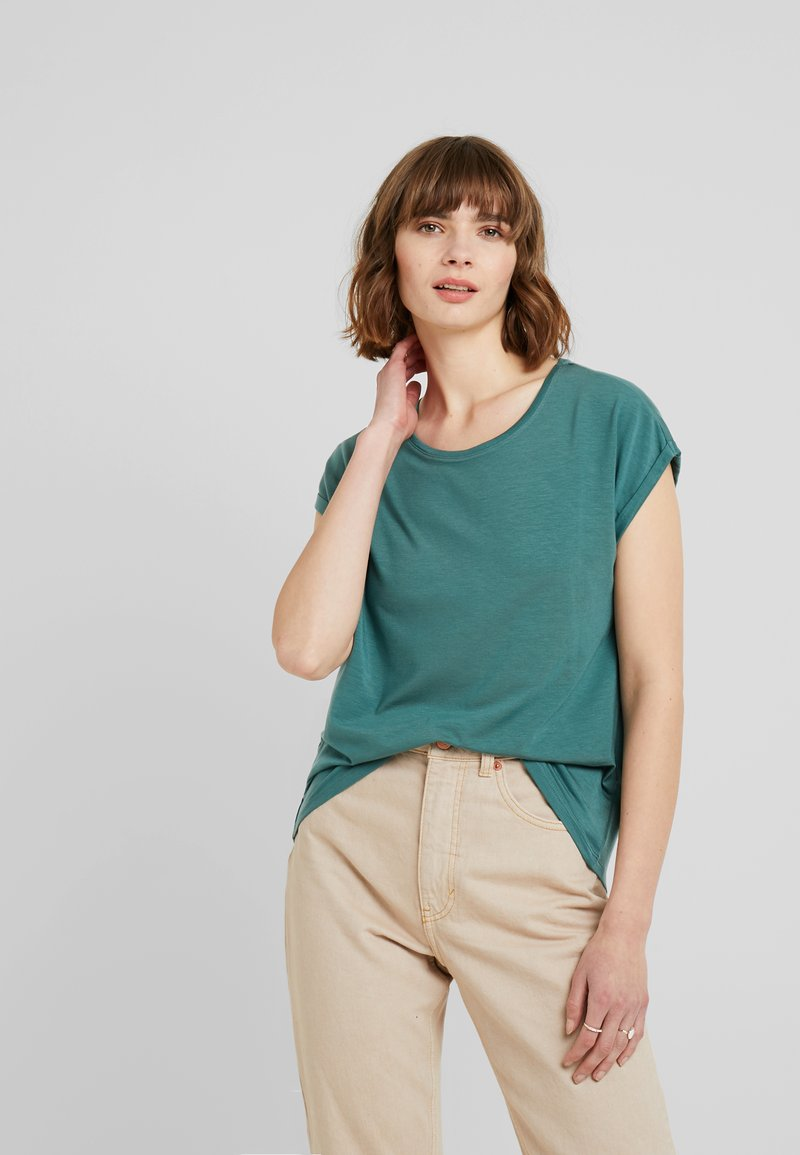 Vero Moda - VMAVA PLAIN - T-shirt basic - north atlantic